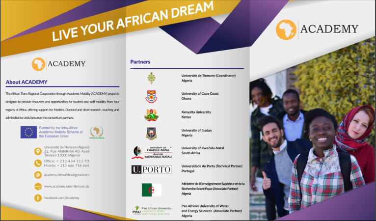 African Trans-Regional Cooperation through Academic Mobility (ACADEMY) 2018 for Masters, Doctoral and Research Visits