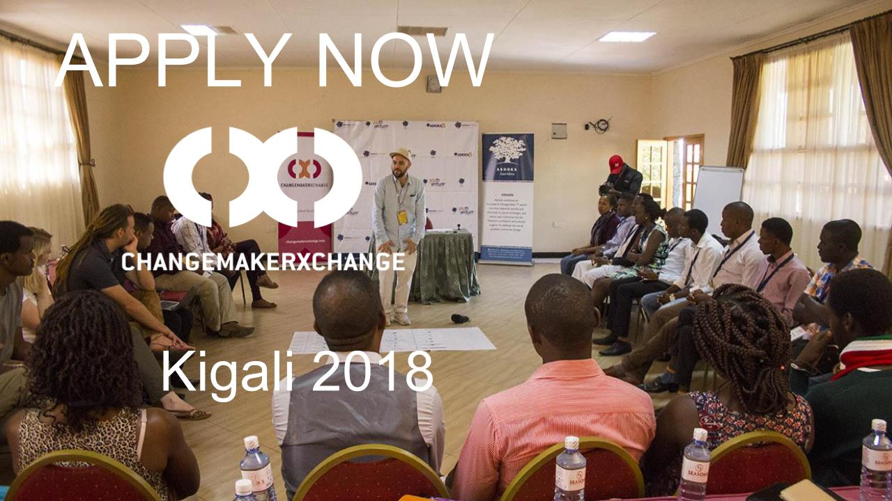 Ashoka ChangemakerXchange Summit 2018 in Kigali, Rwanda (Fully-funded)