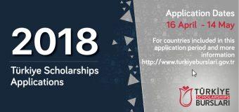 Türkiye International Scholarships to Study in Turkey 2018 (3rd Round)