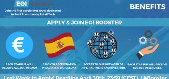 EGI Booster Acceleration Program 2018 for Startups from Europe
