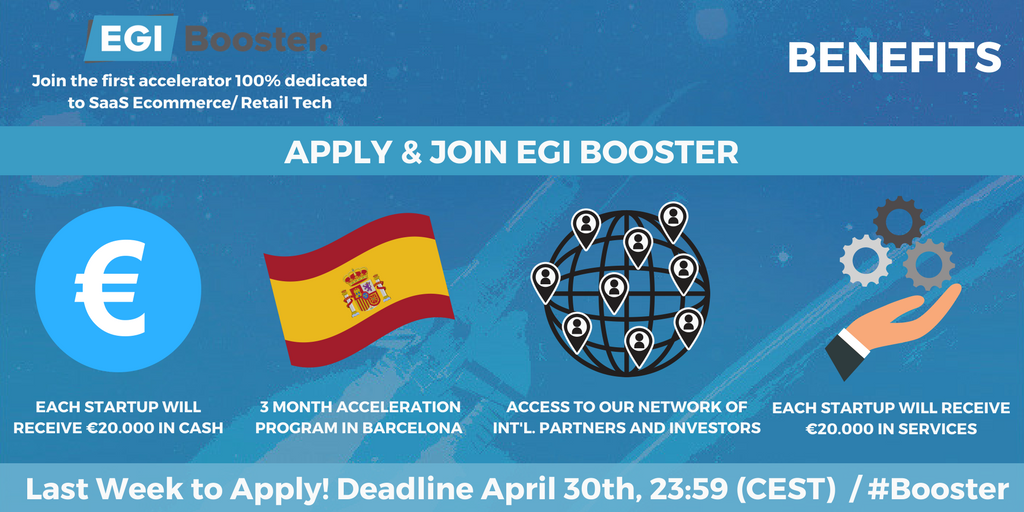 EGI Booster Acceleration Program 2018 for Startups from Europe
