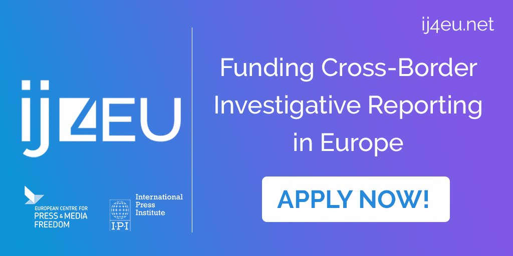 Grants for Cross-Border Investigative Reporting in Europe 2018 (Up to €50,000 for Projects)