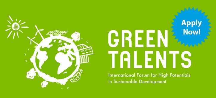 Green Talents – International Forum on Sustainable Development 2018 (Fully-funded to Germany)