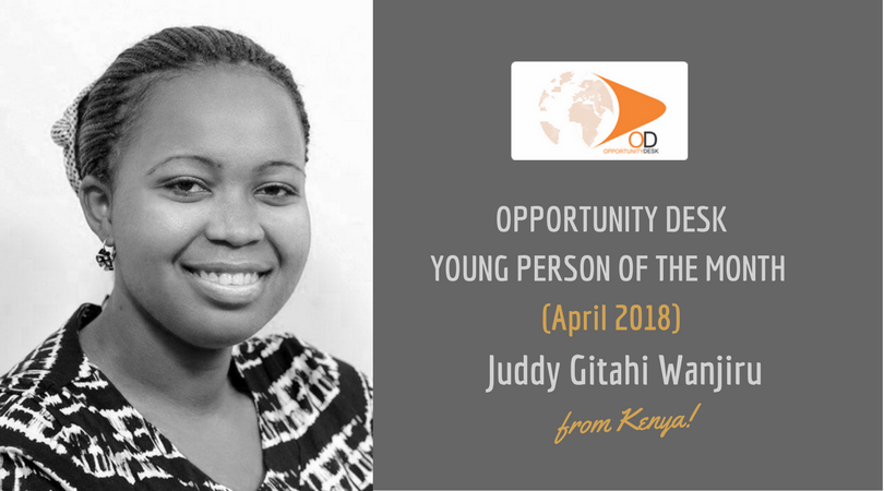 Juddy Gitahi Wanjiru from Kenya is OD Young Person of the Month for April 2018!