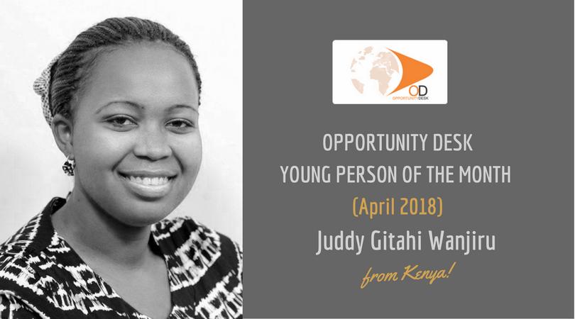 Juddy Gitahi Wanjiru from Kenya is OD Young Person of the