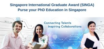 Singapore International Graduate Award (SINGA) for PhD Studies in Singapore – January 2021 intake