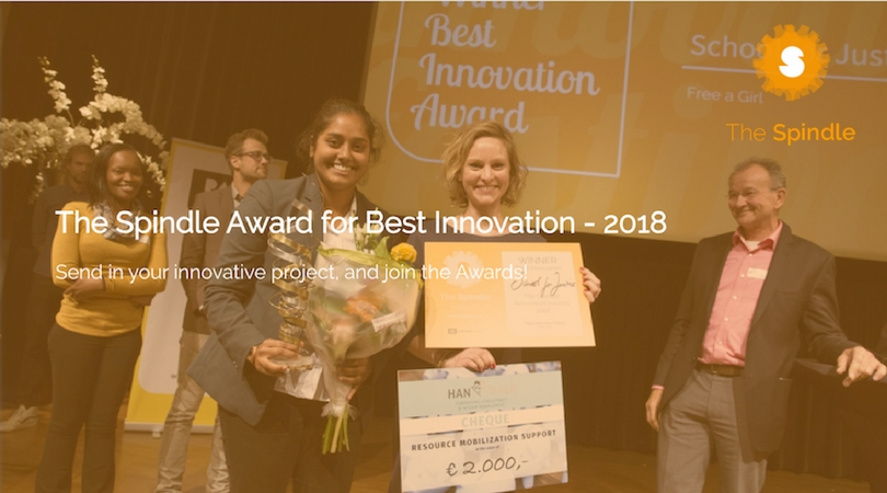 The Spindle Award for Best Innovation 2018 (Pitch in the Netherlands and win €5000)