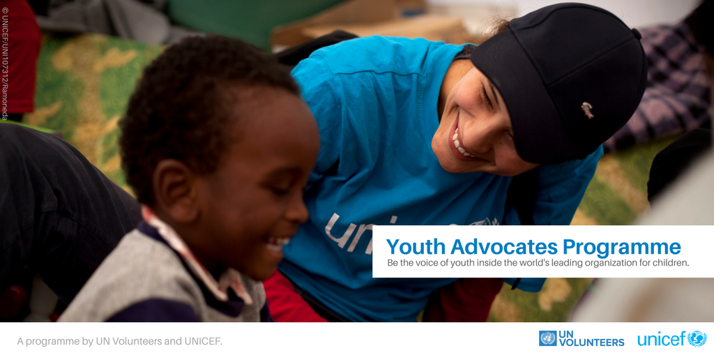 United Nations Volunteers (UNV) and UNICEF Youth Advocates Programme 2018/2019