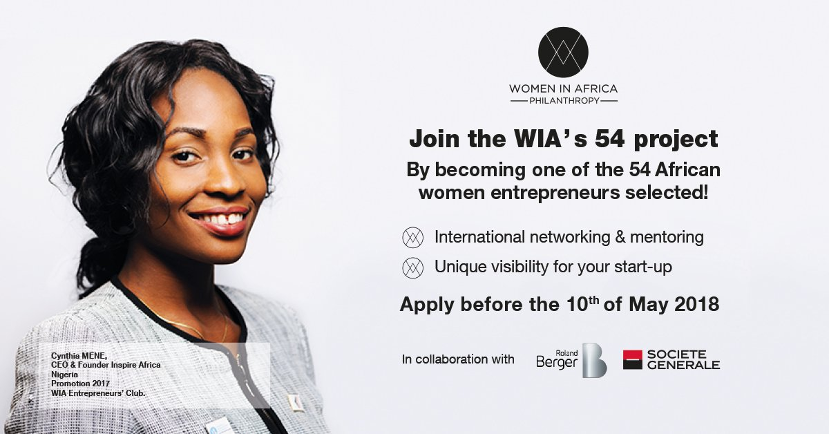 Women In Africa Entrepreneurs' Club – 2018 Cohort (Fully-funded to WIA International Summit in Marrakesh)