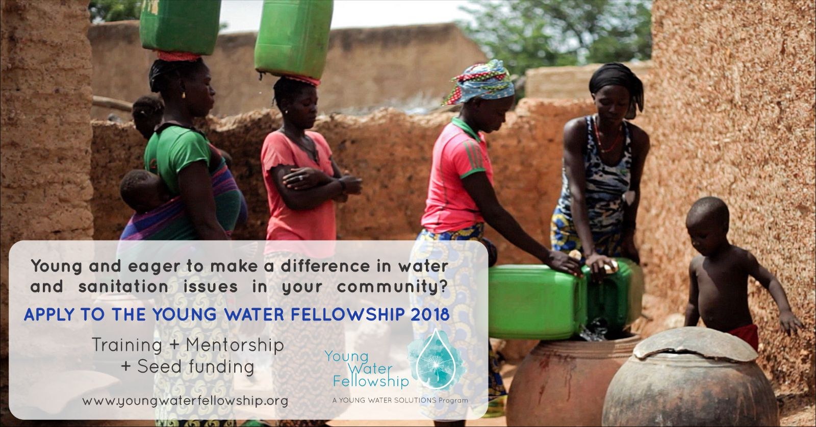 Young Water Fellowship Program 2018 for Young Leaders (Fully-funded)