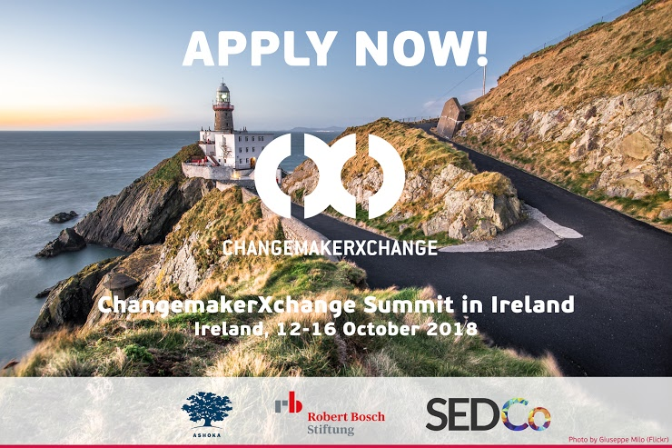Ashoka ChangemakerXchange Summit 2018 for Young Social Innovators in Ireland (Funded)