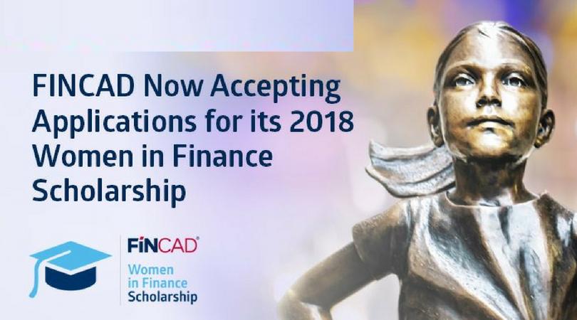 FINCAD Women in Finance Scholarship 2018 (US$10,000 for Graduate-level studies)