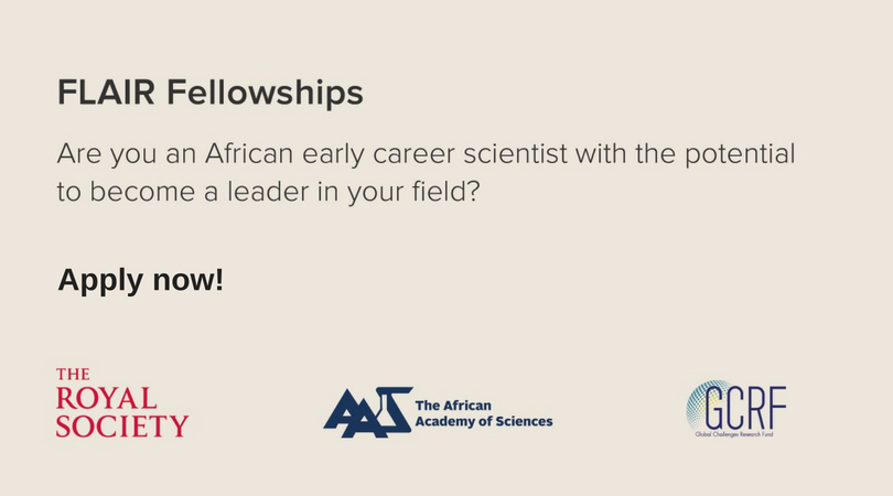 Future Leaders – African Independent Researchers (FLAIR) Fellowships 2018