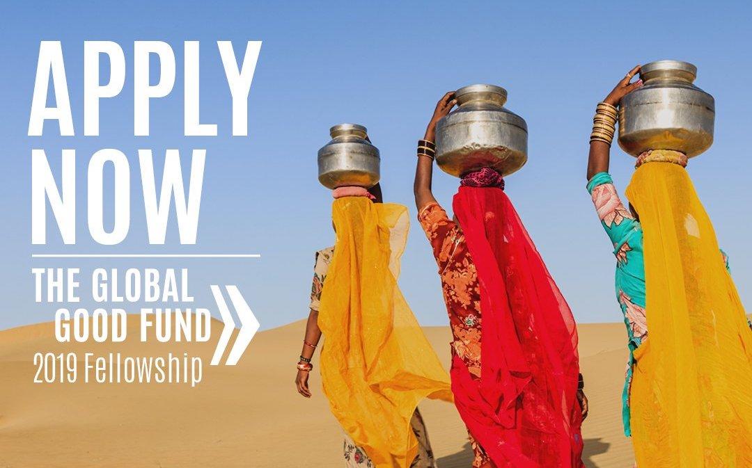 Global Good Fund Fellowship 2019 for Young Social Innovators