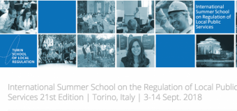 Turin International Summer School on the Regulation of Local Public Services 2018 in Italy