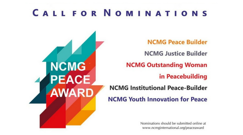Call for Nominations: NCMG International Peace Award 2018