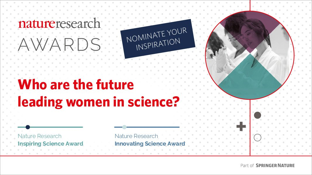 Nature Research Awards for Inspiring Science and Innovating Science 2018 (Grant of$10,000)