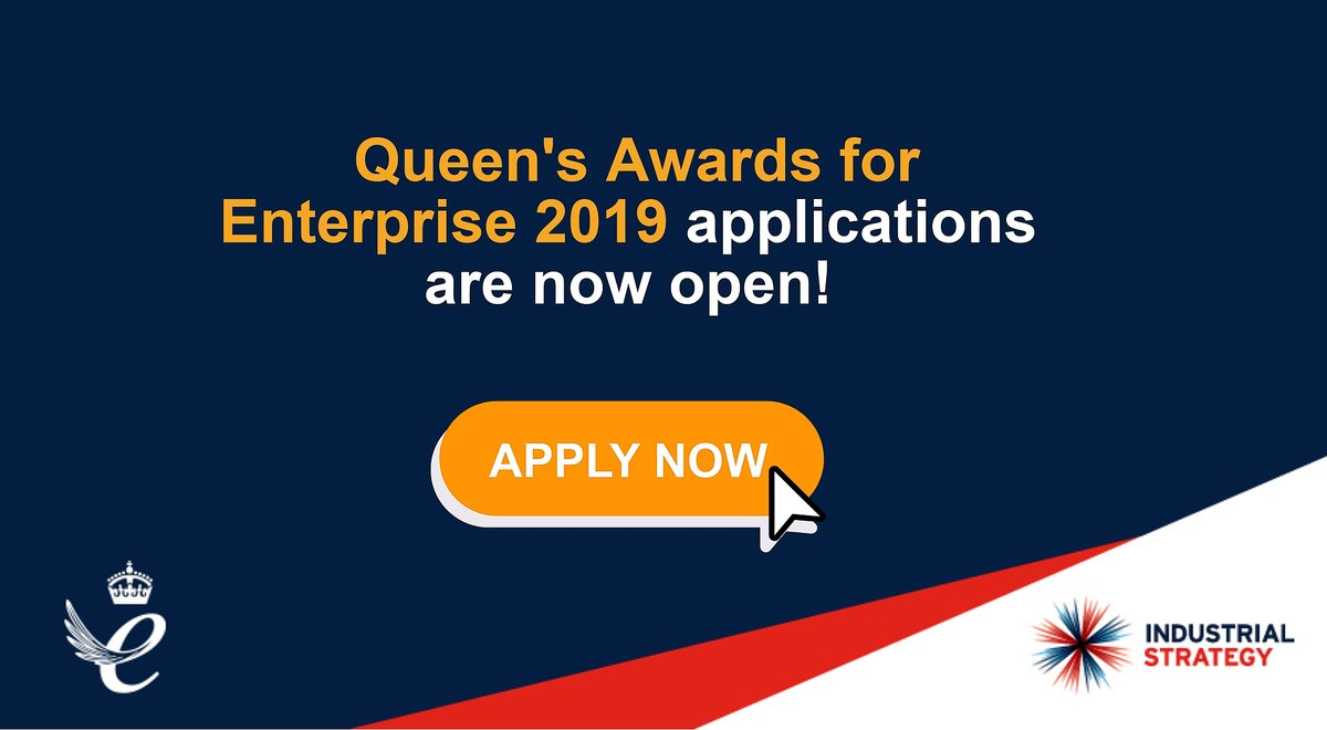 The Queen's Awards for Enterprise 2019 for Businesses based in the UK