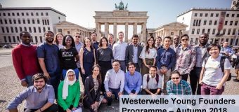 Westerwelle Young Founders Programme – Autumn 2018 in Berlin, Germany (Fully-funded)