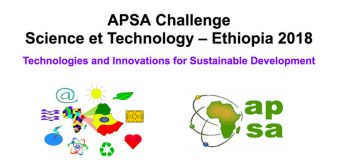 APSA Challenge Science and Technology – Ethiopia 2018 for Young African Scientists and Entrepreneurs
