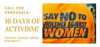 Call for Proposals: AWDF 16 Days of Activism Against Gender-Based Violence 2018