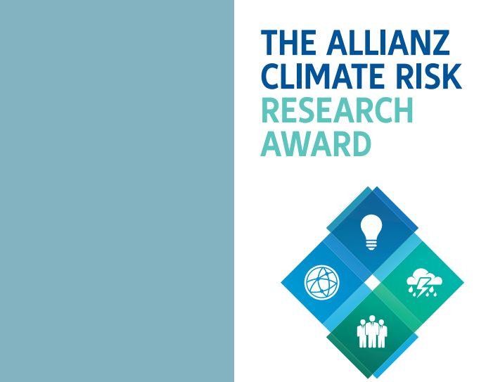 Allianz Climate Risk Research Award 2018 (Win Cash prizes & trip to Munich)