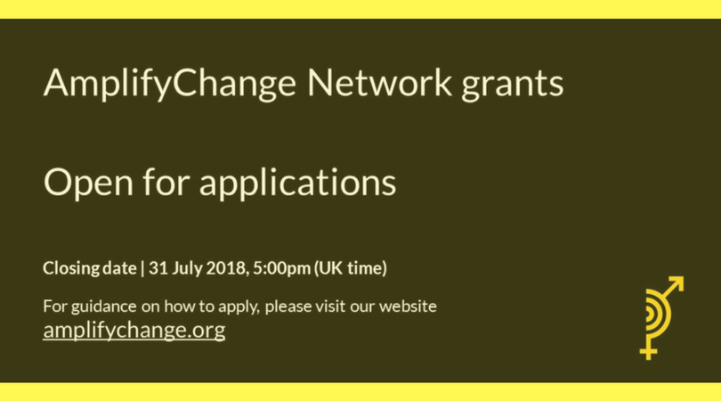 Call for Proposals: AmplifyChange Network Grants 2018 (Round 4)