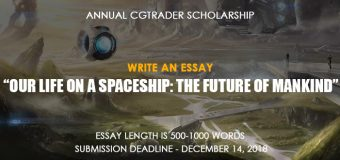CGTrader Annual Scholarship 2018 ($2,000 prize)
