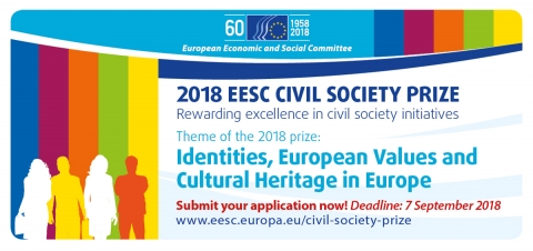 European Economic and Social Committee (EESC) Civil Society Prize 2018 (€50,000 prize)