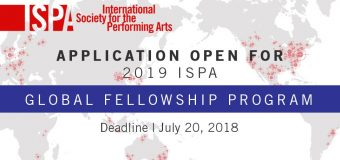 International Society for the Performing Arts (ISPA) Global Fellowship Program 2019
