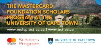 Mastercard Foundation Scholars Program to Study at University of Cape Town (UCT) 2019