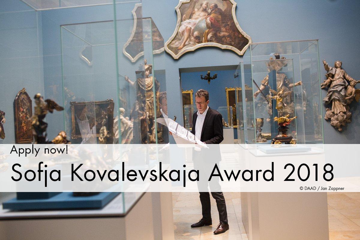 Alexander von Humboldt Foundation's Sofja Kovalevskaja Award 2018 for International Researchers