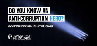Transparency International Anti-corruption Award 2018