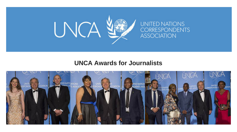 United Nations Correspondents Association (UNCA) Awards for Journalists 2018