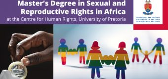 Centre for Human Rights Scholarship for Master's Degree in Sexual & Reproductive Health in Africa 2019 at the University of Pretoria