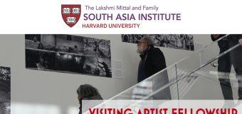 Visiting Artist Fellowship at Harvard University Mittal Institute in Cambridge, MA 2018/19