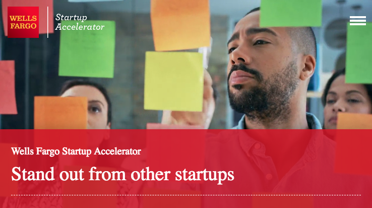 Wells Fargo Startup Accelerator Program 2019 (up to $1,000,000)
