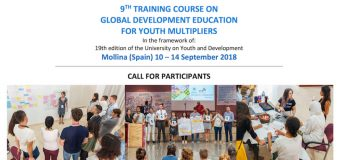 Apply: 9th Training Course on Global Development Education for Youth Multipliers (Fully-funded to Spain)