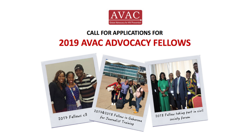 AVAC Advocacy Fellows Program 2019 for emerging and mid-career advocates