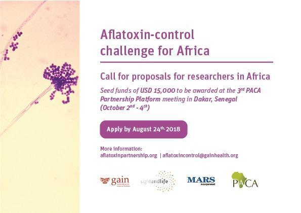 Call for Proposals for Researchers in Africa: PACA Aflatoxin-control Challenge 2018 ($15,000 Prize)