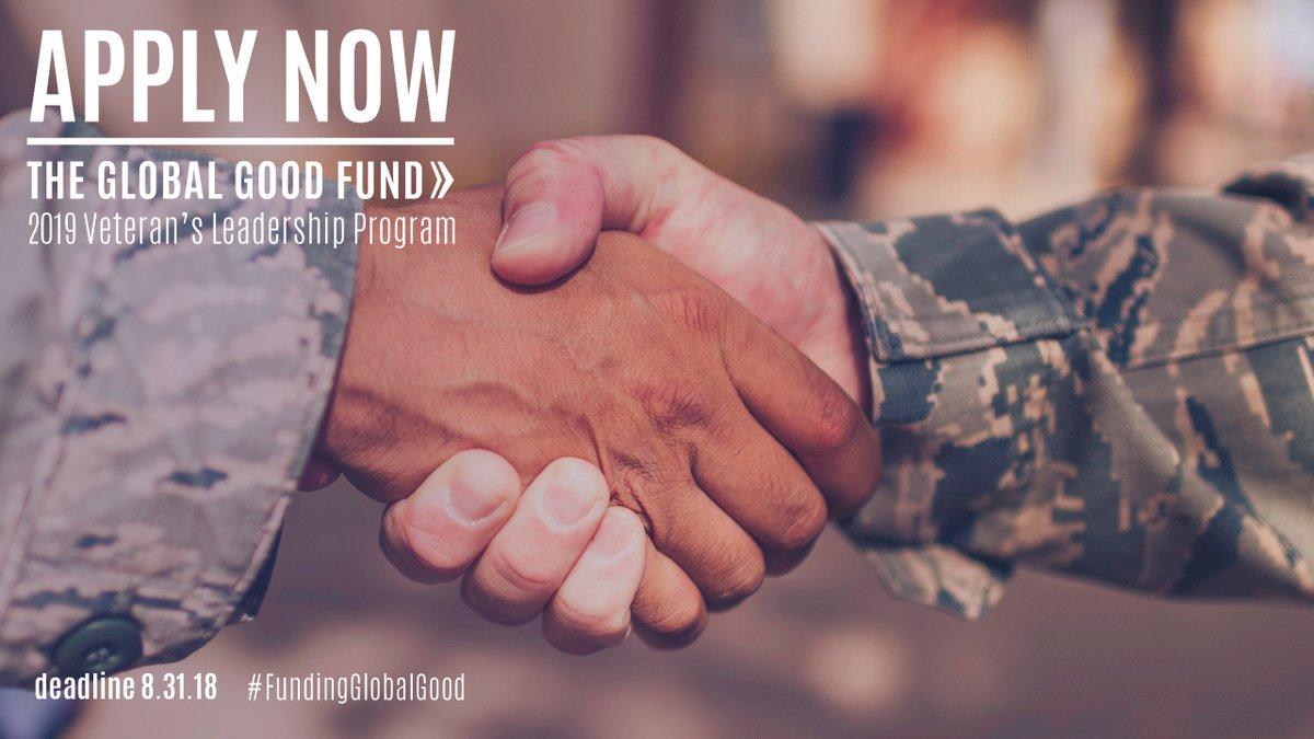 Global Good Fund Veteran Leadership Program 2019