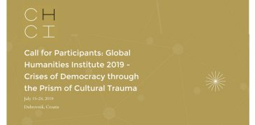 Global Humanities Institute (GHI) Summer School on Crises of Democracy 2019 (Fully-funded to Dubrovnik, Croatia)