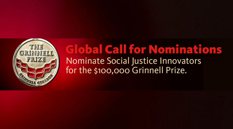 Grinnell Prize for Social Justice Innovators 2019 ($100,000 Award)