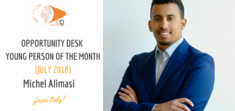 Michel Alimasi from Italy is OD Young Person of the Month for July 2018!
