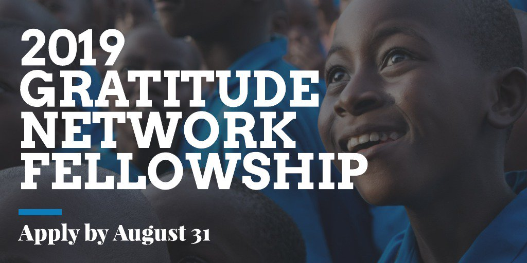 The Gratitude Network Fellowship 2019 for Social Entrepreneurs