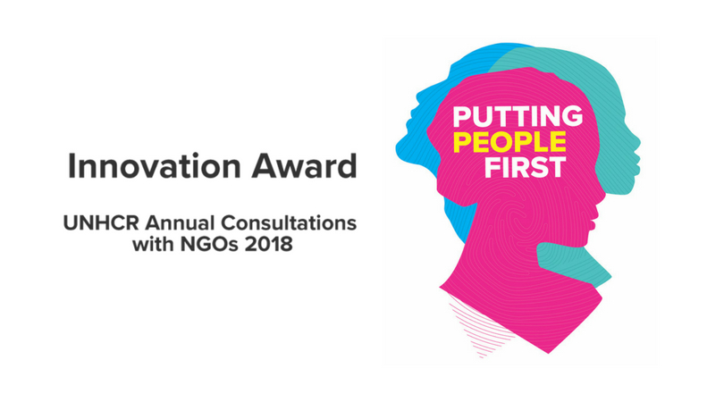 UNHCR Annual Consultations with NGOs Innovation Award 2018