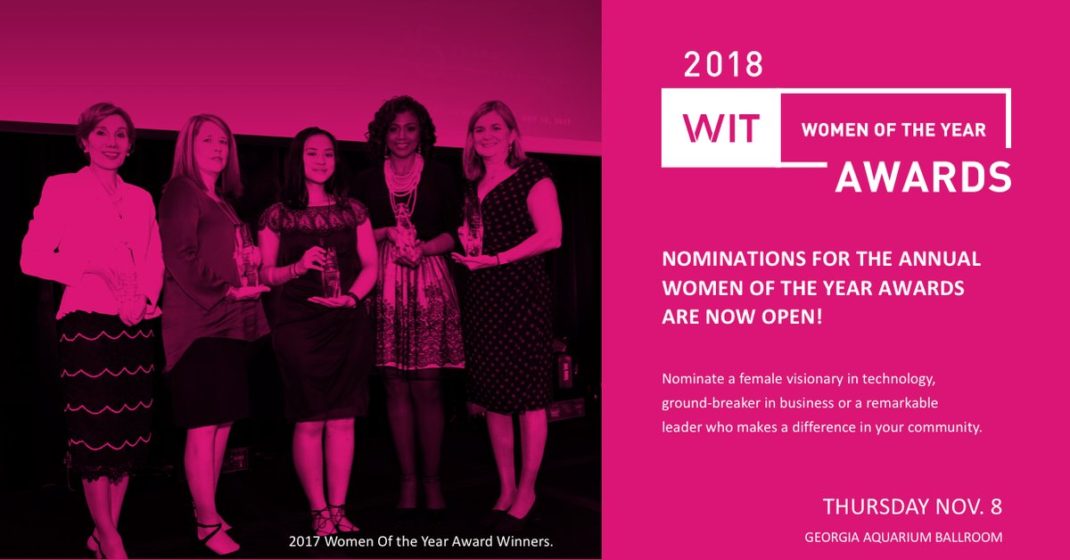 Women in Technology (WIT) Women of the Year Award 2018