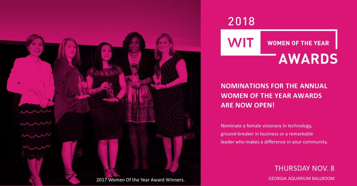 Women in Technology (WIT) Women of the Year Award 2018
