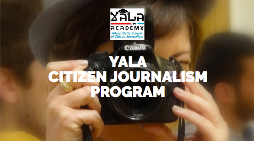 YaLa Academy's Aileen Getty School of Citizen Journalism 2018