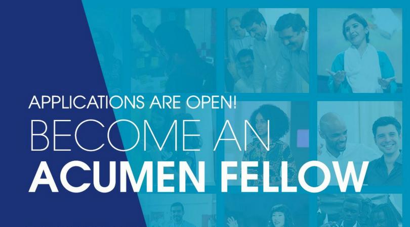 Acumen Fellowship Program 2019 for Social Changemakers (Fully-funded)